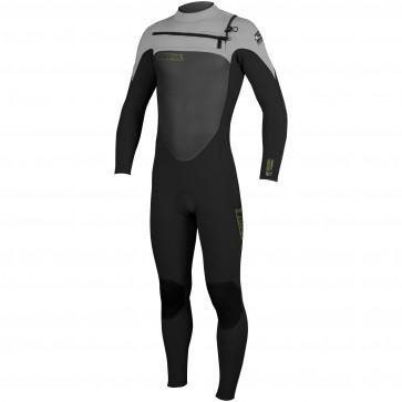 O'Neill SuperFreak 4/3 Chest Zip Wetsuit - Black/Lunar