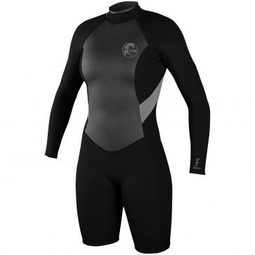 O'Neill Women's Bahia 2/1 Long Sleeve Spring Wetsuit - Black/Lunar