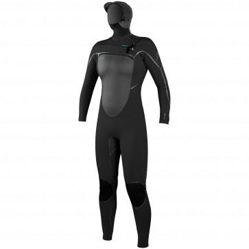 O'Neill Women's Psycho Tech 6/4 Hooded Wetsuit - Black