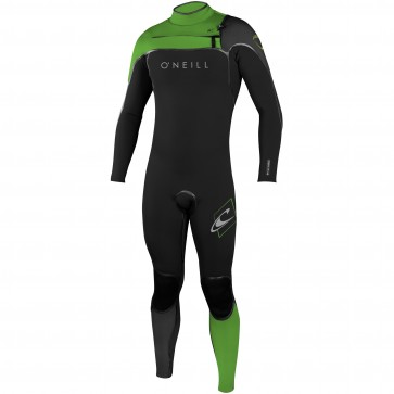 O'Neill Youth Psycho I 4/3 Chest Zip Wetsuit - Black/DayGlo/Graphite