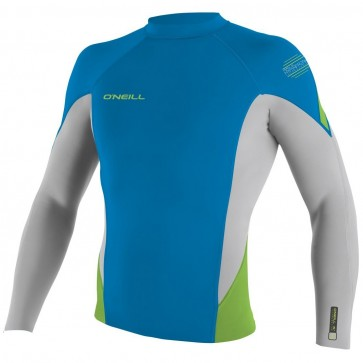 O'Neill Wetsuits HyperFreak 1.5mm Jacket - Bright Blue/Lunar/DayGlo