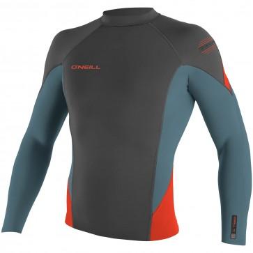 O'Neill Wetsuits HyperFreak 1.5mm Jacket - Graphite/Dusty Blue/Neon Red
