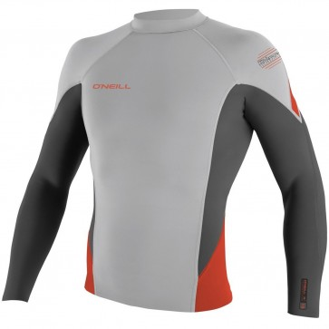 O'Neill Wetsuits HyperFreak 1.5mm Jacket - Lunar/Graphite/Neon Red