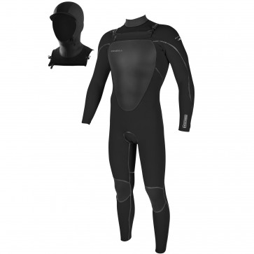 O'Neill Mutant 5/4 Wetsuit with Hood - Black