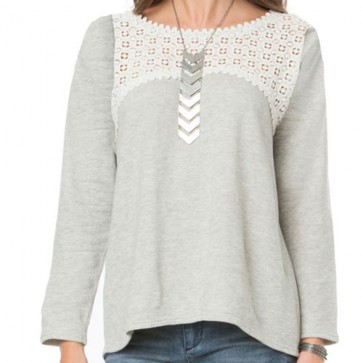 O'Neill Women's Partington Long Sleeve Top - Heather Grey