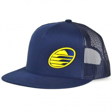 Cleanline Rock Flat-Bill Mesh Hat - Navy/Yelllow