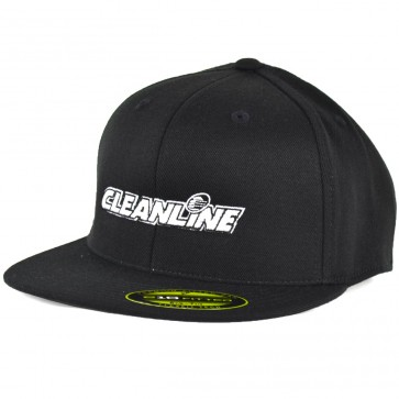 Cleanline Embroidered Corp Logo Hat - Black/White