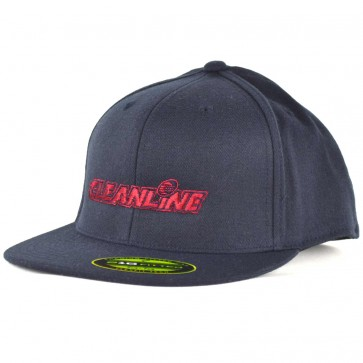 Cleanline Embroidered Corp Logo Hat - Dark Navy/Red