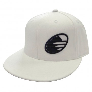Cleanline Embroidered Rock Hat - White/Black