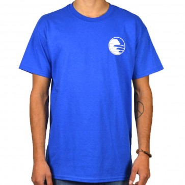 Cleanline Sunset Circle T-Shirt - Royal