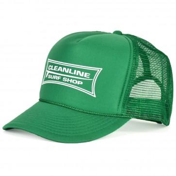 Cleanline Longboard Mesh Hat - Kelly Green/White