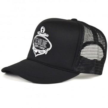 Cleanline Anchor Trucker Hat - Black/White