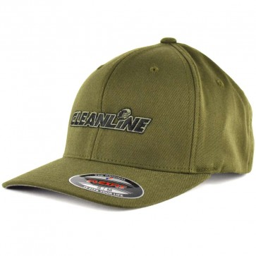 Cleanline Embroidered Corp Logo Hat - Olive/Black