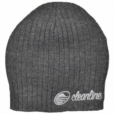Cleanline Cursive Short Cable Beanie - Heather Charcoal/Grey