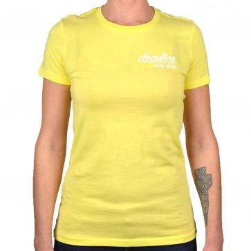 Cleanline Women's Cursive/Big Rock Top - Yellow/White