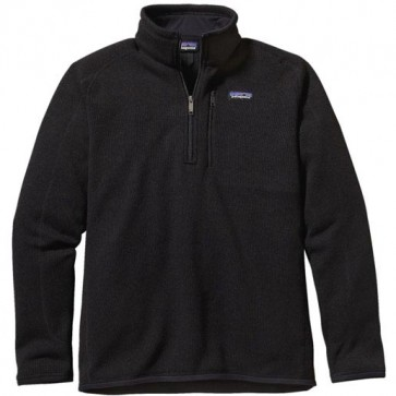 Patagonia Better Sweater 1/4 Zip Fleece - Black