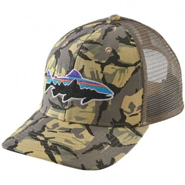 Patagonia Fitz Roy Trout Trucker Hat - Big Camo/Classic Tan