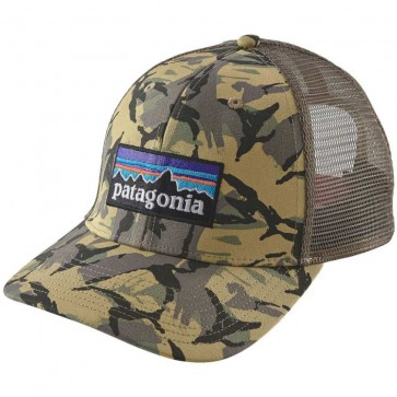Patagonia P-6 Trucker Hat - Big Camo/Classic Tan