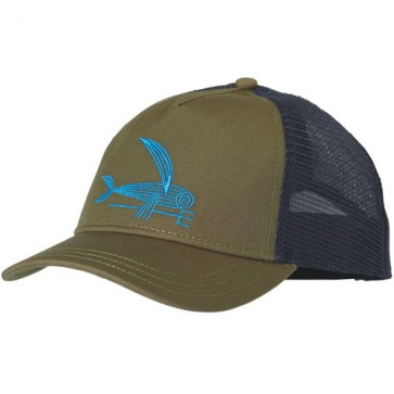 Patagonia Women's Deconstructed Flying Fish Trucker Hat - Fatigue Green