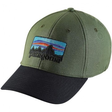 Patagonia '73 Logo Stretch Fitted Hat - Buffalo Green
