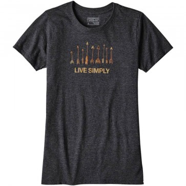 Patagonia Women's Live Simply Quiver T-Shirt - Black