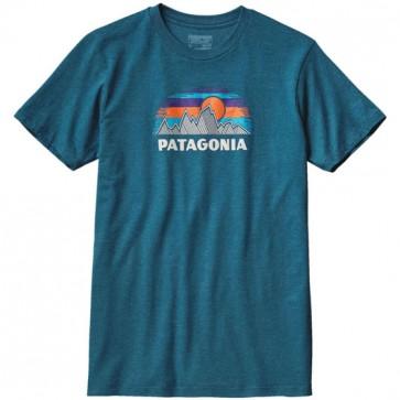 Patagonia Woven Fitz Roy T-Shirt - Deep Sea Blue