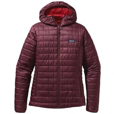 Patagonia Women's Nano Puff Hooded Jacket - Dark Currant