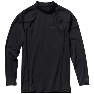 Patagonia Wetsuits R0 Long Sleeve Rash Guard - Black/Forge Grey