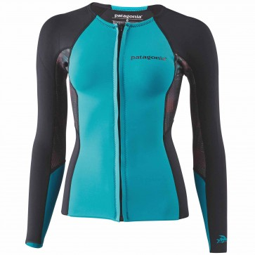 Patagonia Wetsuits Women's R1 Long Sleeve Top - Howling Turquoise
