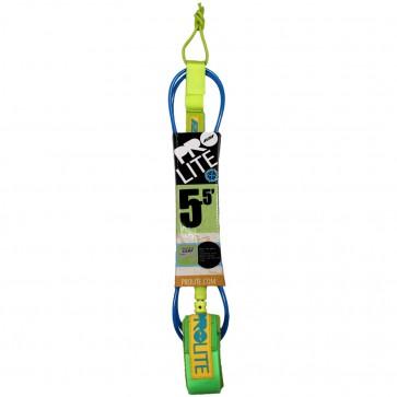 Pro-Lite Super Comp Leash  - 5.5' - Neon Blue