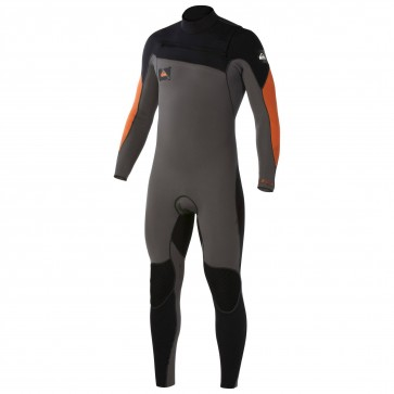 Quiksilver Ignite 3/2 Chest Zip Wetsuit - Graphite/Orange
