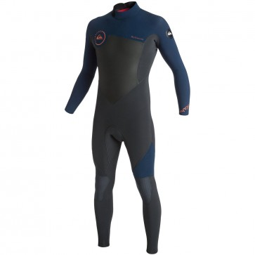 Quiksilver Syncro 5/4/3 Back Zip Wetsuit - Graphite/Ink Blue