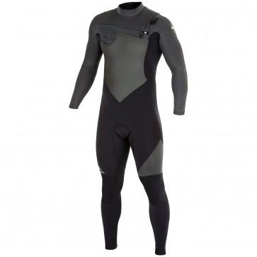 Quiksilver Syncro 4/3 Chest Zip Wetsuit - Black/Graphite