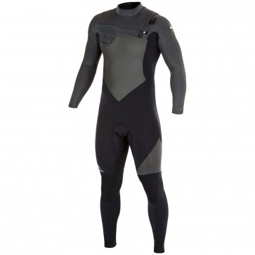 Quiksilver Syncro 3/2 Chest Zip Wetsuit - Black/Graphite