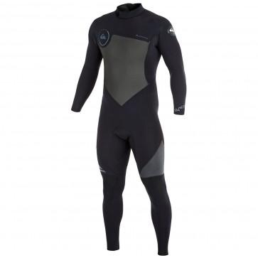 Quiksilver Syncro 3/2 Back Zip Wetsuit - Black/Graphite