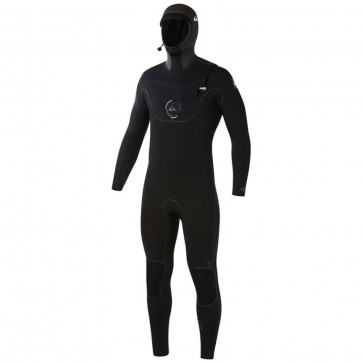 Quiksilver Cypher 5/4/3 Hooded Chest Zip Wetsuit - Black