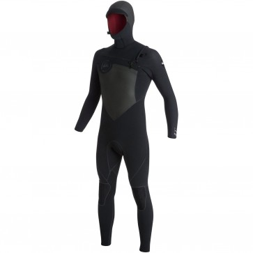 Quiksilver AG47 Performance 6/5/4 Hooded Chest Zip Wetsuit - Black