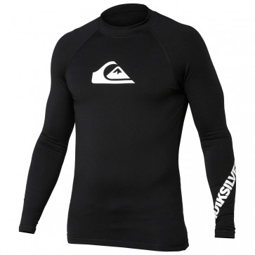 Quiksilver Wetsuits All Time Long Sleeve Rash Guard - Black