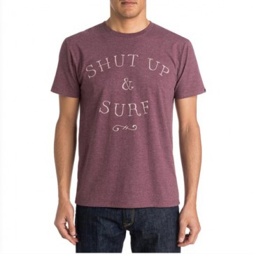 Quiksilver Just Surf T-Shirt - Plum Wine/Heather