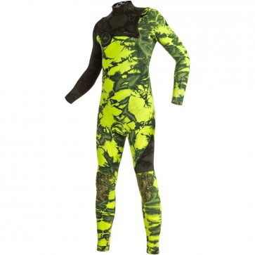 Quiksilver Youth Highline Tie Dye 3/2 Zipperless Wetsuit - Green Flash