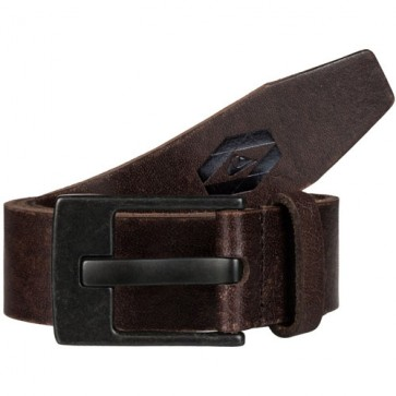 Quiksilver Revival Leather Belt - Dark Brown