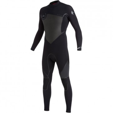 Quiksilver Syncro Plus 3/2 Back Zip Wetsuit - Black