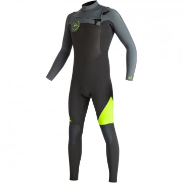 Quiksilver Syncro 4/3 Chest Zip Wetsuit - Safety Yellow