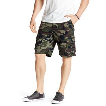 Quiksilver Deluxe Cargo Shorts - Army