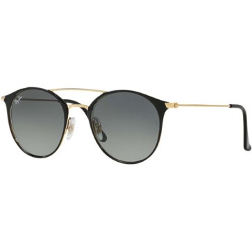 Ray-Ban RB3546 Sunglasses - Gold/Black/Grey Gradient