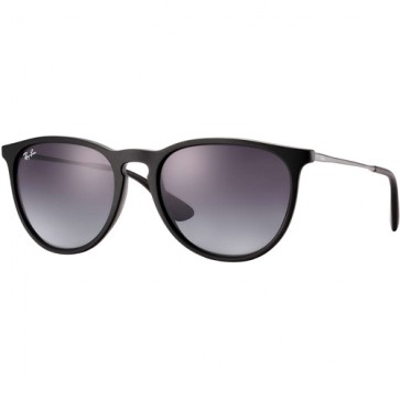 Ray-Ban Erika Sunglasses - Rubber Black/Light Grey Gradient