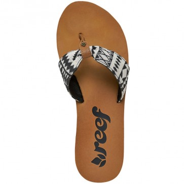 Reef Women's Scrunch TX Sandals - Black/White