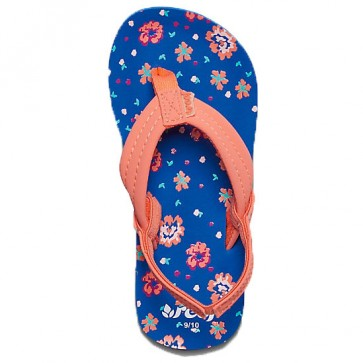 Reef Youth Little Girls Ahi Sandals - Blue/Floral
