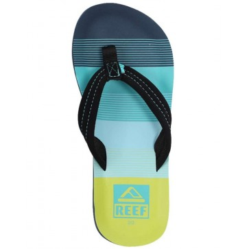 Reef Youth Ahi Sandals - Aqua/Green