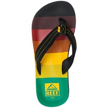 Reef Youth Ahi Sandals - Black/Rasta